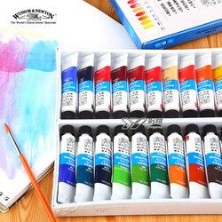 Freeshipping الطبعات نيوتن ألوان مائية paints24 اللون 18 اللون 12 اللون وندسور نيوتن ألوان مائية الدهانات 10 ملليلتر