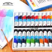 Freeshipping winsor 뉴턴 수채화 paints24 색상 18 색 12 색 윈저 뉴턴 수채화 물감 10 ml