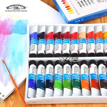 Freeshipping winsor newton akwarela paints24 kolor 18 kolor 12 kolor Windsor Newton akwarela farby 10 ml