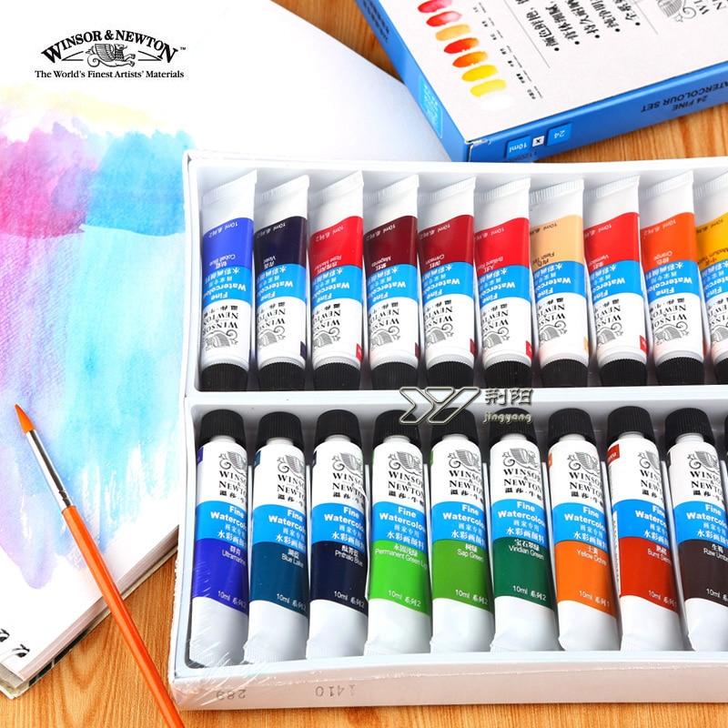 Freeshipping Winsor Newton Watercolor Paints24 Color 18 Color 12 Color Windsor Newton Watercolor Paints 10ml