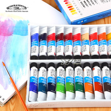 Freeshipping winsor newton watercolor paints24 color 18 color 12 color Windsor Newton watercolor paints 10ml