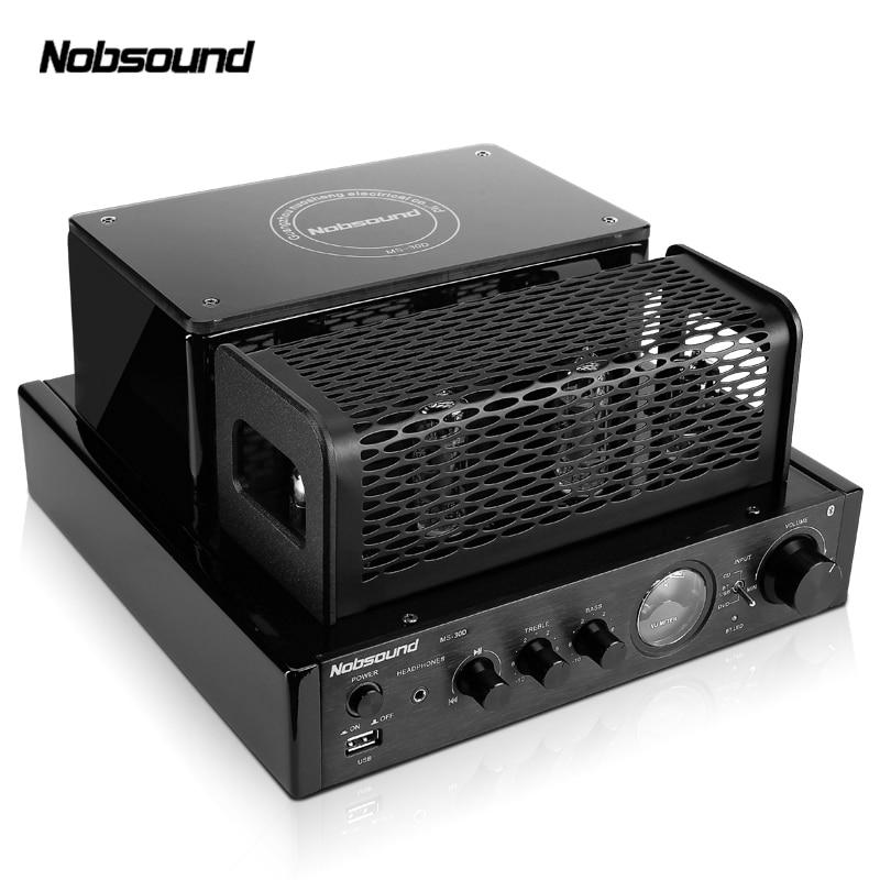 Nobsound MS 30Dll 2.0 Bluetooth puissance de sortie 25 W amplificateur à tube d'électrons HIFI Tube à vide intégré amplificateur de machine à bile USB-in Amplificateur from Electronique    1