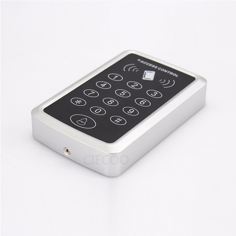DIY RFID 125Khz ID card entry lock door Standalone Touch screen Single door access controller system +10pcs cards backlight metal shell ip68 waterproof rfid 125khz em id smart card entry lock keypad standalone door access control system