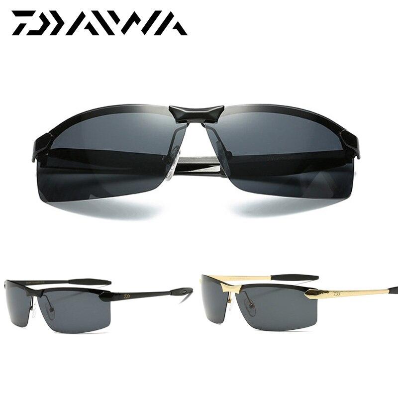 Daiwa pesca esportes ao ar livre óculos de sol homens ou mulheres óculos de pesca Ciclismo escalada óculos de sol com objetivo de resina polarizada