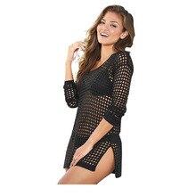 Здесь можно купить   2016 New Female Beach Cover Up Swimwear Crochet Saida De Praia Swimsuit Summer Dress Womens Lace Bathing Suit Cover-Ups Sportswear & Accessories