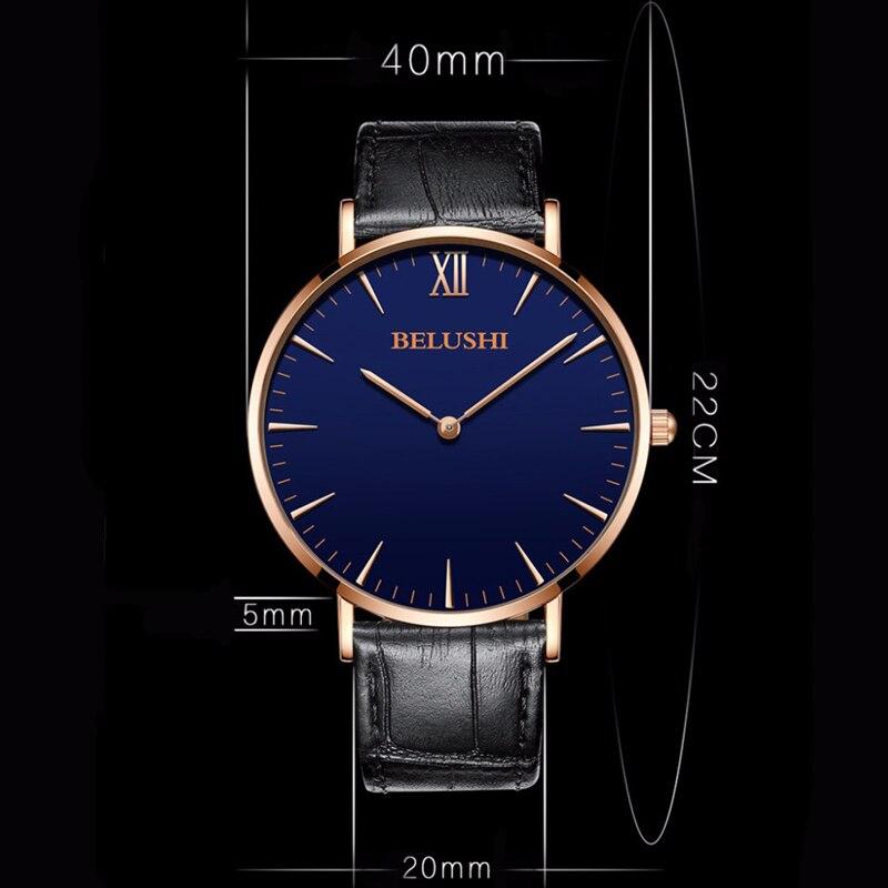 Top Mærke Luksus Fashion Simple Mænd Watch Business Vandtæt Kvarts - Mænds ure - Foto 5
