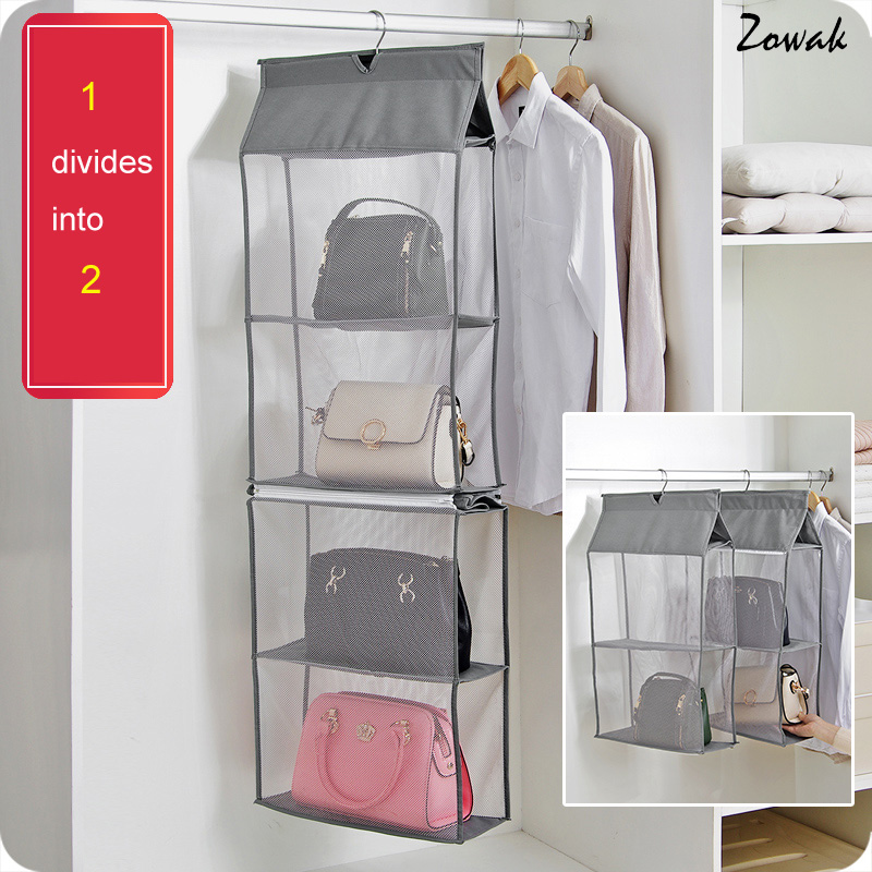 Detachable 6 Compartment Organizer Pouch Hanging Handbag Organizer Clear Purse Bag Collection Storage Bag Holder Wardrobe Closet алиэкспресс сумка прозрачная