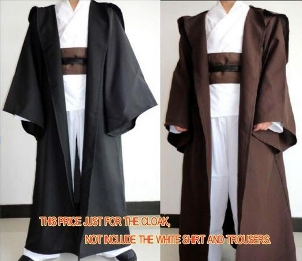 Adults Kids Star Wars Jedi Knight Cloak Robe Cosplay Costume Hooded Cape Halloween