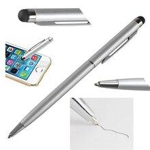 2 в 1 мини-металлическая емкостная сенсорная ручка стилус экран для телефона планшета ноутбука Встроенная шариковая ручка