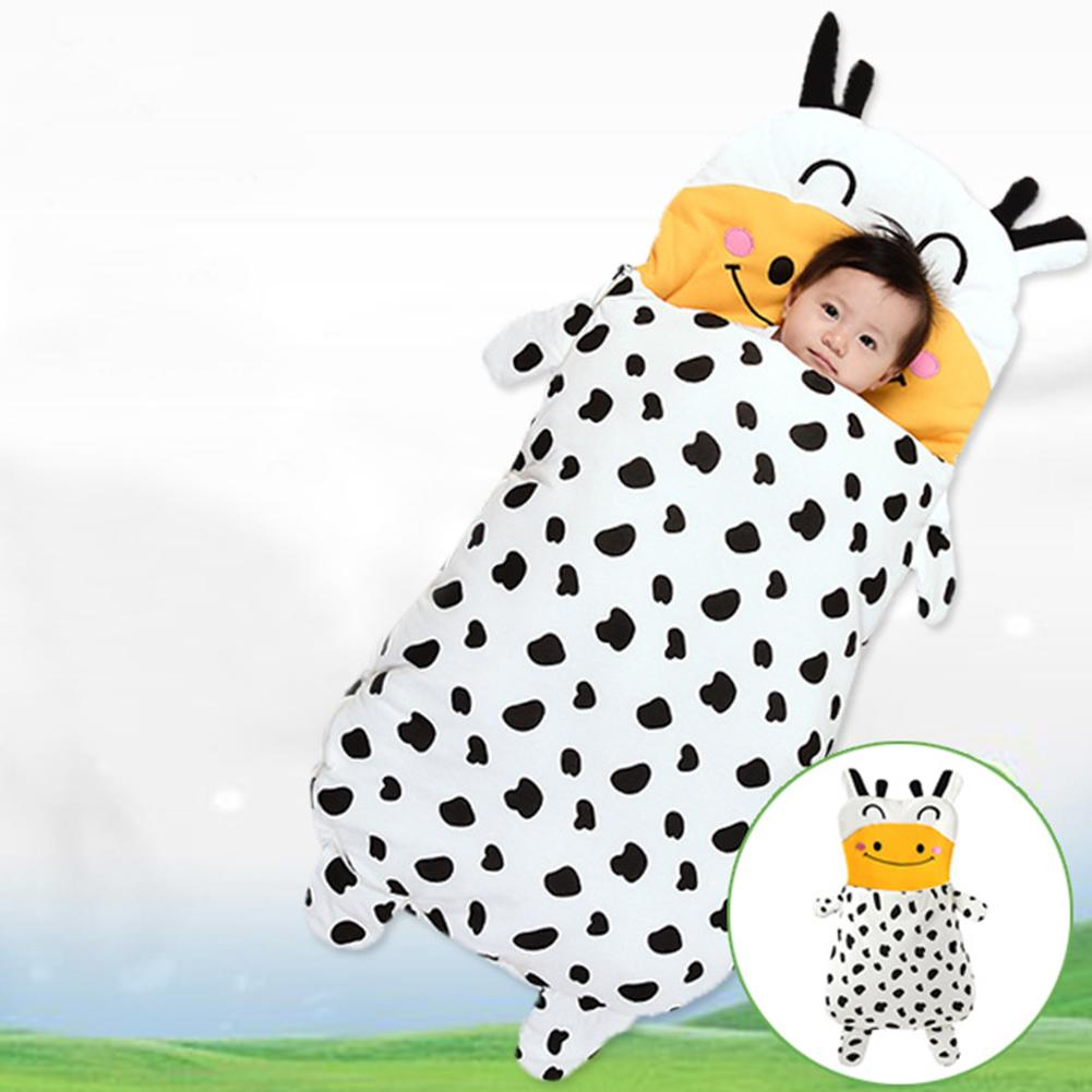 Baby Milk Cow Sleeping Bag Spring Autumn Winter Cow Pattern Outdoor Anti-Kicking Children Stroller Bed Swaddle Blanket cow milk of sodium carbonate decahydrate cosme cow 430ml