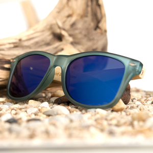 Image 5 - BOBO BIRD Transparent Blue Square Sunglasses Women Bamboo Wood Sun glasses Mirrored Polarized Summer Style in WoodBox BS05