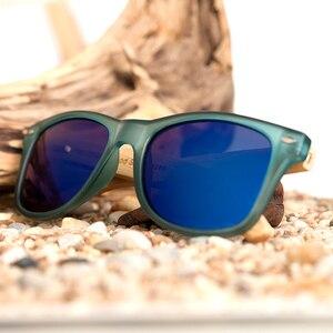 Image 5 - ボボ鳥透明ブルー女性竹木製サングラスミラー偏夏スタイル薪箱 BS05