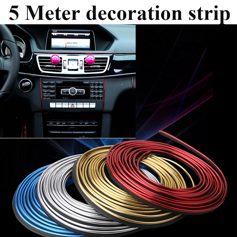 5 meter auto dash panel trim strip car rein side moulding decoration strip pvc decorative tape. Black Bedroom Furniture Sets. Home Design Ideas