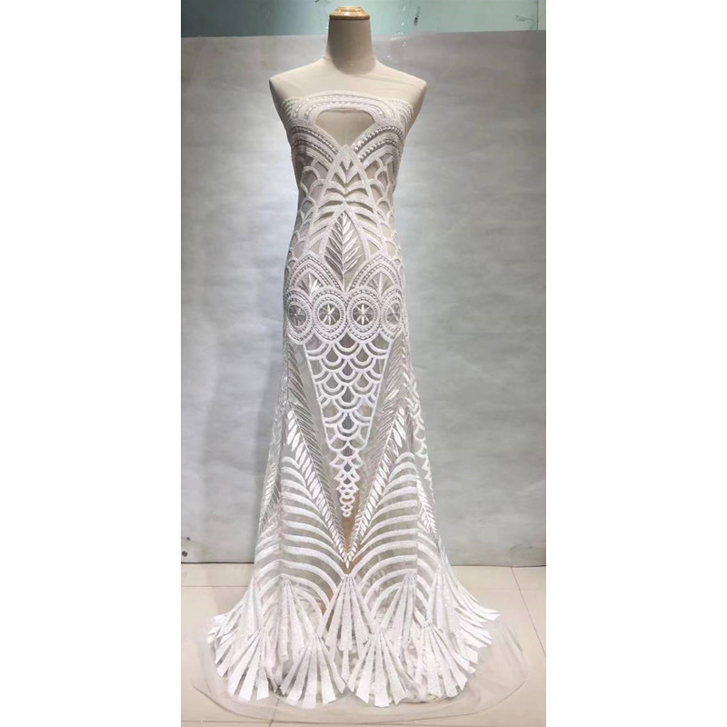 2018  new design African Net Champagne Sequins Lace fashion party dress lace High Quality French Tulle Lace with sequins2018  new design African Net Champagne Sequins Lace fashion party dress lace High Quality French Tulle Lace with sequins