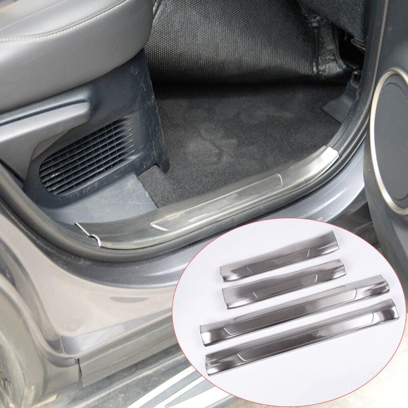 4 x для Лексус NX200 nx300 низкое 2016 автомобиль-стайлинг 304 Нержавеющая сталь внутри дверь порога накладка плита порога автомобиль аксессуары