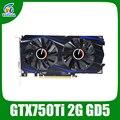 Обновлен оригинальный GTX750Ti 2048 МБ GDDR5 128bit Видеокарты Nvidia Geforce GTX 1020/5400 MHz