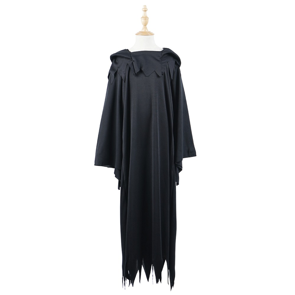 Vampire Costume Girls Witch Cosplay Ghost Costumes Halloween Black Fantasy Dress Cape for Boys Children Party Carnival