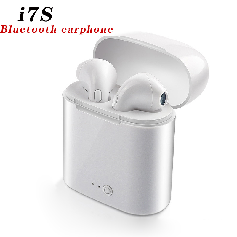 i7s <font><b>Tws</b></font> Bluetooth Earphones Mini Wireless Earbuds Sport Handsfree Earphone Cordless Headset with Charging Box for xiaomi Phone image