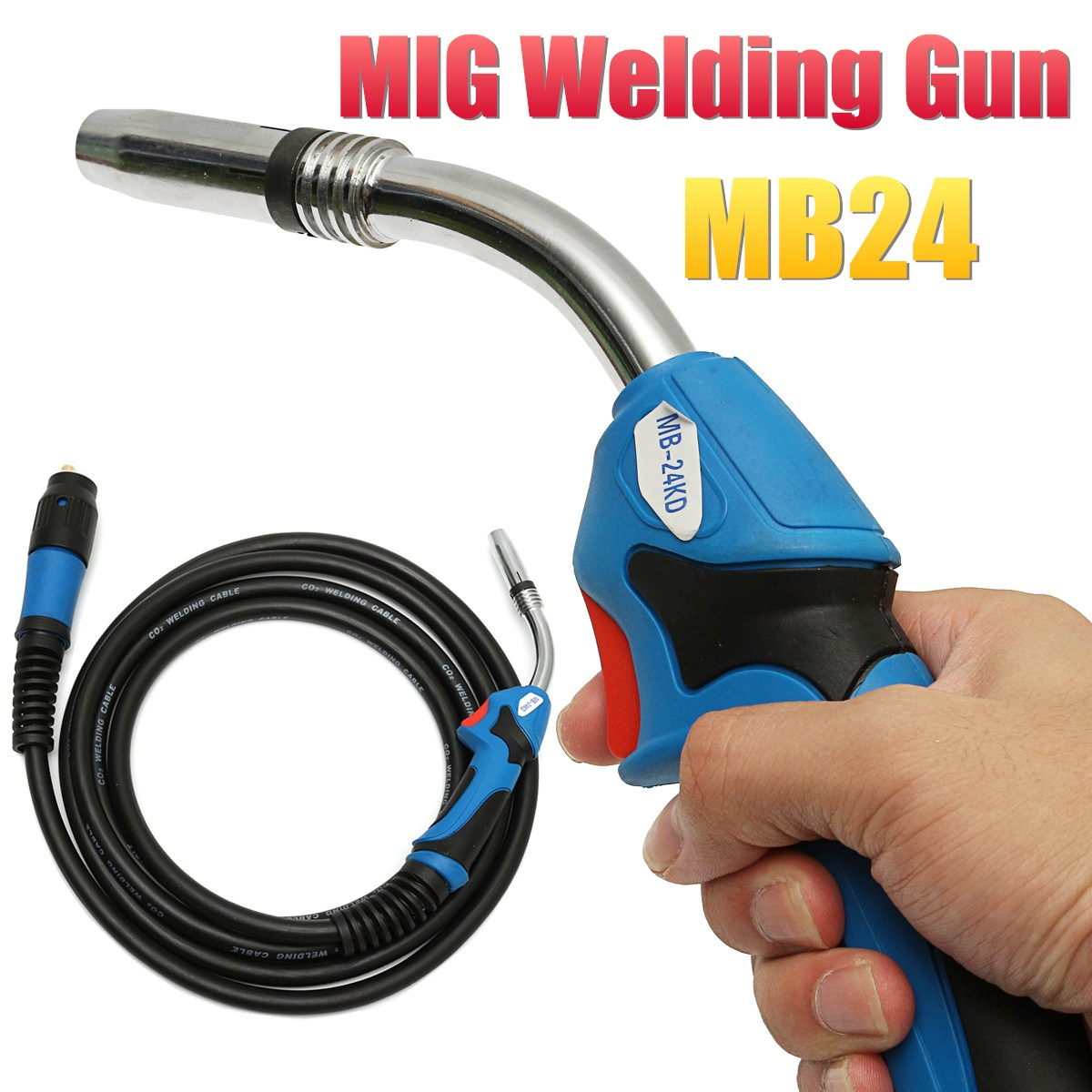 все цены на 1Pcs MB24 MIG Welding Gun-Torch with 5 Meter Length Lead Electric Welder Torch Stinger Parts
