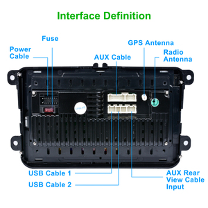 "Image 5 - EU Warehouse Podofo 8"" 2din Car Android Radio GPS Navi Autoradio USB Player for VW EOS Golf 5 6 Touran Caddy Jetta Tiguan Canbus"
