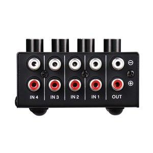 Image 3 - Nobsound Mini Stereo RCA 4 channel Passive Mixer Lossless Audio for Live & Studio Black