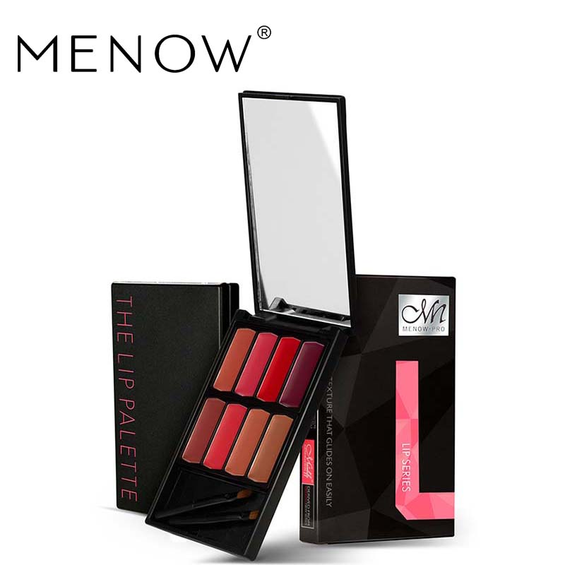 MENOW Brand 8 colors Lip Gloss Palette Makeup Waterproof Lasting Moisturizer Lipsticks Women beauty lips Cosmetic Lip tintL501 3