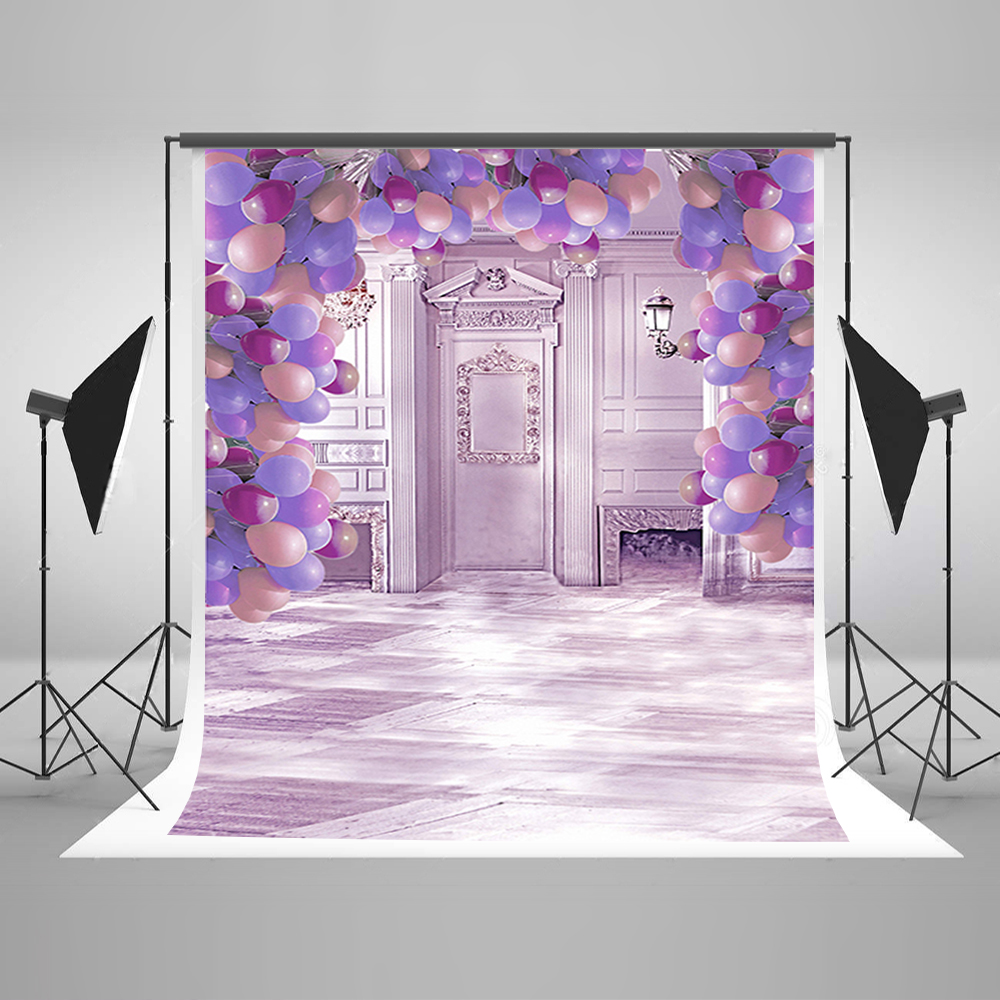 Wedding Background Purple Balloons Foto Background Gray Wood Floor Backdrop for Photos 10ft 20ft romantic wedding backdrop f 894 fabric background idea wood floor digital photography backdrop for picture taking