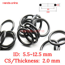 10pcs ID 5.5 6 6.5 6.7 6.8 7 7.5 8 8.5 8.7 8.8 9 9.5 10 10.5 11 11.2 11.5 12 12.5 mm x CS 2mm Rubber oil seal resistant o-ring(China)
