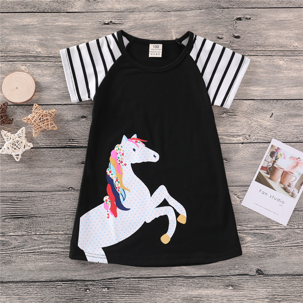 Children Vintage Style Squirrel Silhouette Personality T-Shirt Summer Tee for 2-6 Years Old
