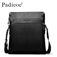 Padieoe Genuine Leather Men Messenger Bags Casual Male Crossbody Shoulder Bag