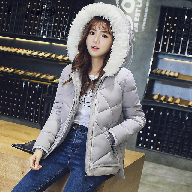 trending 2017 winter womens coats short women basic coats bomber ...