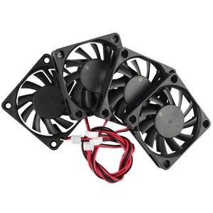 Image 2 - Accessoires dimprimante 3D 6010 24V extrudeuse roulement à huile ventilateur de refroidissement 4 pièces pour imprimante 3D, Machine de gravure, découpeuse