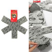 6pcs/set Pot & Pan Protectors Gray Print Divider Pads to Prevent Scratching Separate and Protect Surfaces for Cookware(China)
