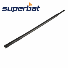 Superbat 3pcs 2.4GHz 12dBi Omni Directional Rubber Duck Aerial Booster WiFi Antenna RP SMA Plug for IEEE 802.11b Wireless LANs