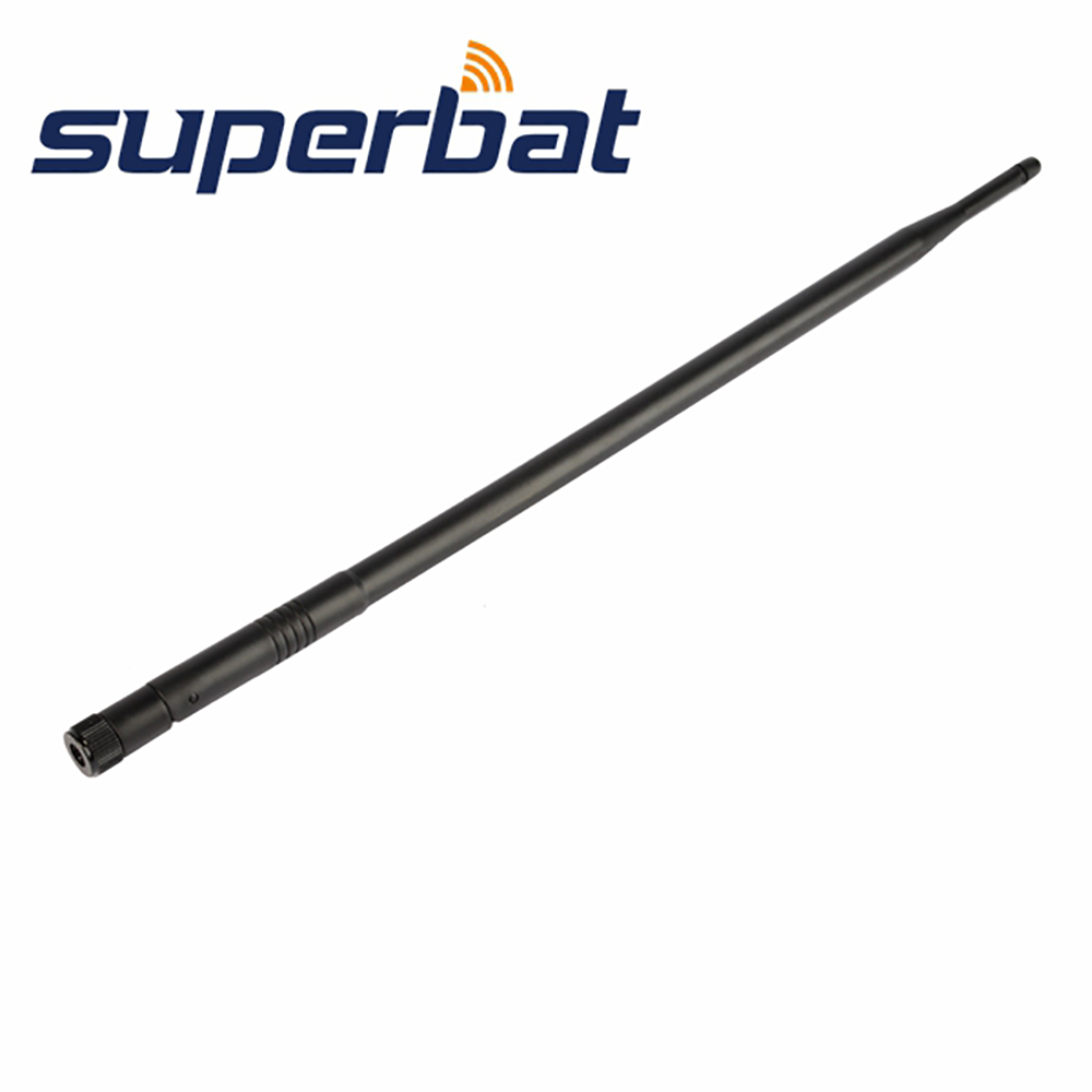 Superbat 3pcs WiFi Antenna 2.4GHz 12dBi Omnidirezionale Antenna in gomma Booster RP-SMA maschio per LAN wireless IEEE 802.11b
