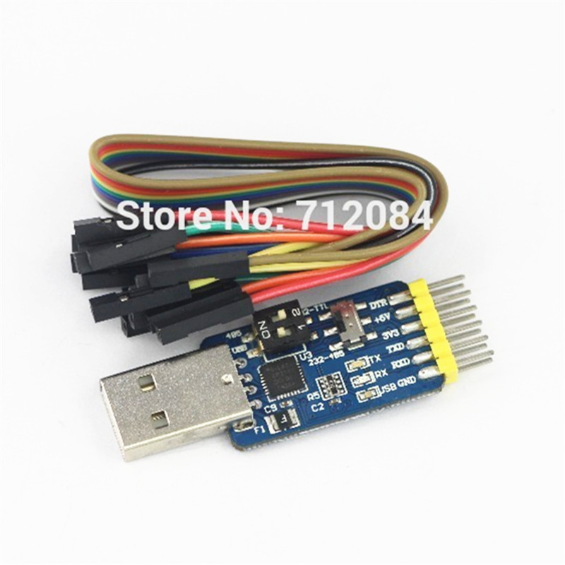 Multifunction serial module CP2102 usb to TTL, 232 to 485, USB to RS232, etc 3.3V / 5V compatible image
