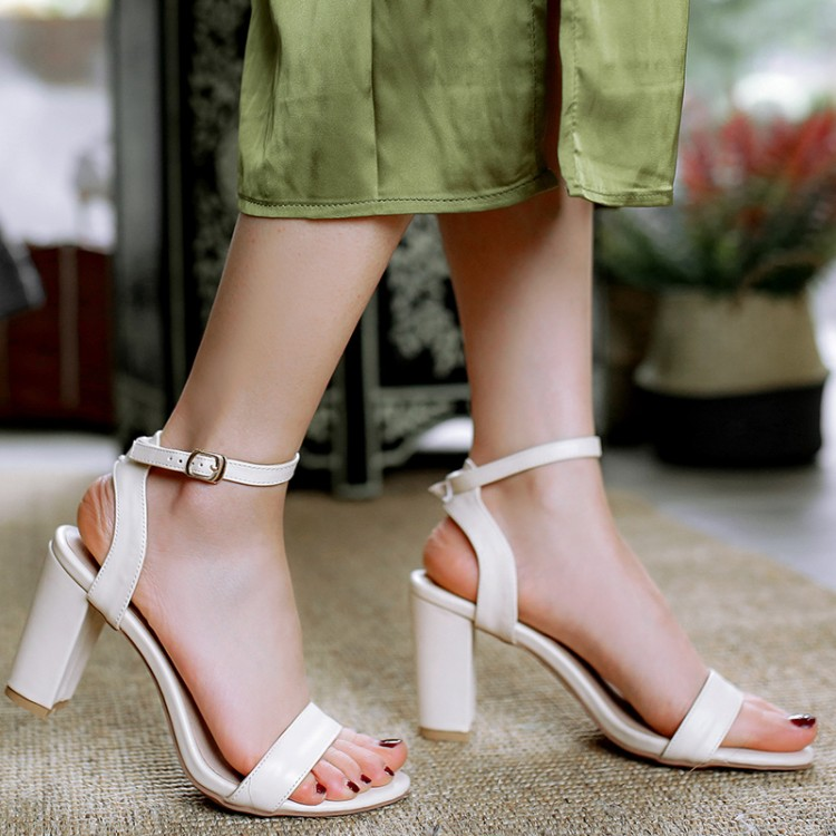 Big Size 11 12 13 14 15 high heels sandals women shoes woman summer ladies Shallow mouth Coarse heel Rome wind