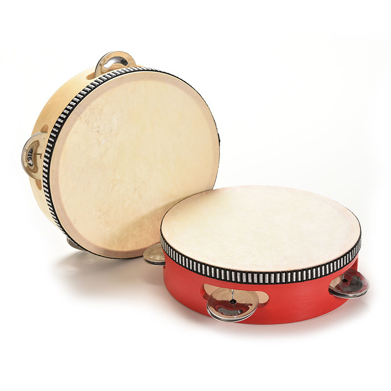 Dia 15cm Hand Held Tambourine Drum Bell Metal Jingles Percussion Musical Toy For KTV Party Kids Games