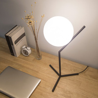 Globe table lamp for indoor home decor Reding Bedroom Bed side lamp lampara de mesa White Ball Shape Dimming kids table lamp