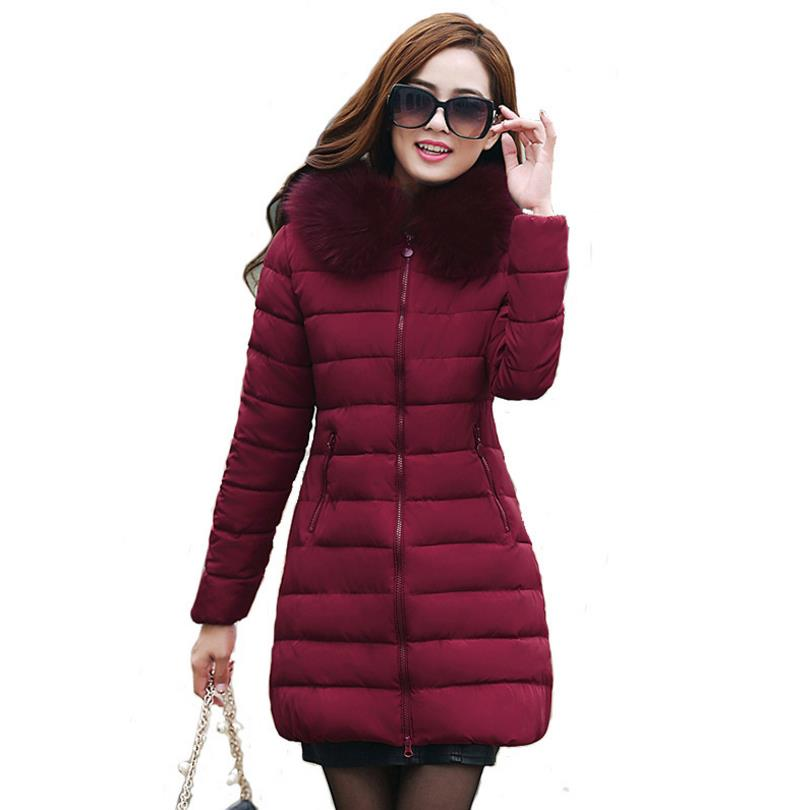 2018 Long Section Cotton Clothing Winter Coat Women Thick Fashion Hooded Down Jacket Women Slim Jacket Winter Jacket Women X3 pregnant women coat autumn and winter cotton fashion long section slim was thin feather cotton clothing thickened cotton jacket