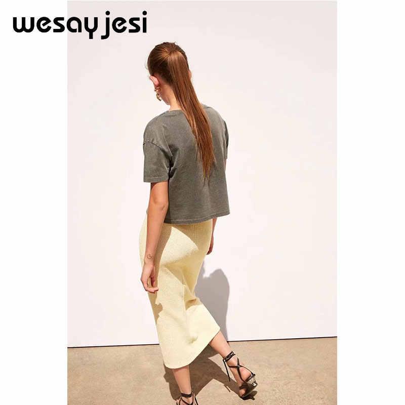 2019 Musim Panas Fashion T Shirt Wanita Harajuku Korea Pakaian Streetwear Gambar Kartun Gadis Cetak 100% Leher O Katun Tshirt Tops Plus Ukuran