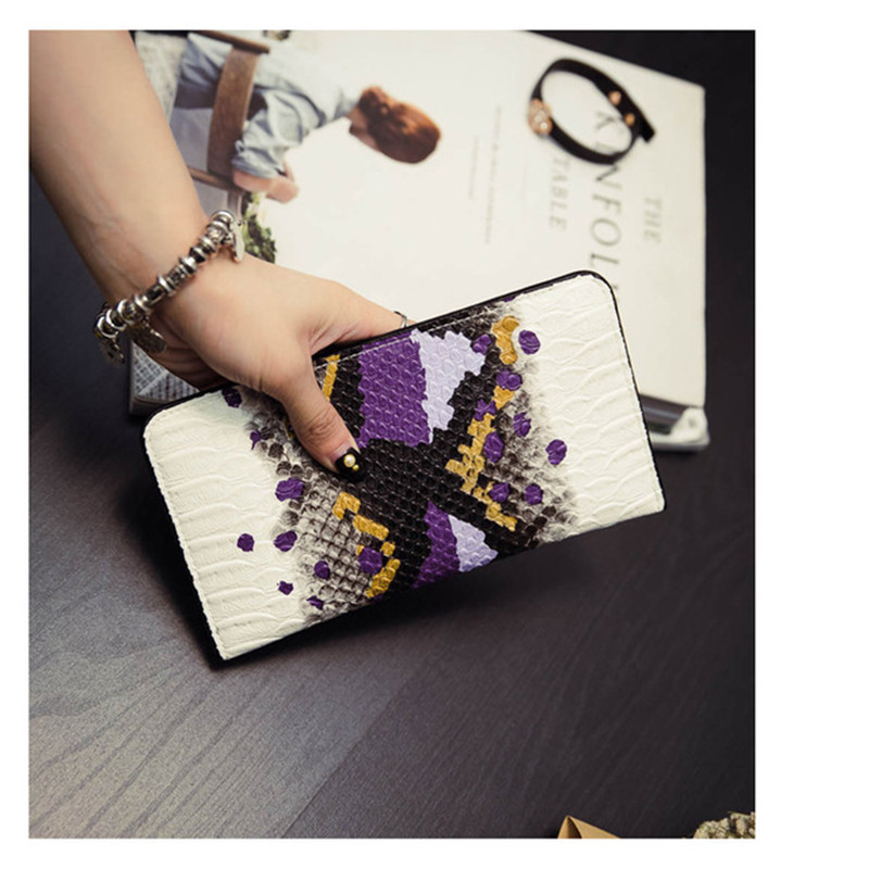 2017 New Hot Sale Women's Purse Brand Genuine Snake Pattern Print Design Long Female Clutch Wallet Hasp Phone Holder Bag best price mgehr1212 2 slot cutter external grooving tool holder turning tool no insert hot sale brand new