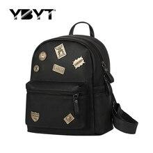 YBYT marque 2017 nouveau preppy style paillettes badge sac à dos femmes shopping mobile bookbag voyage dames sac d'école des élèves sac à dos
