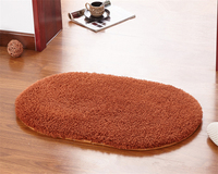 1 Piece Thick Oval Berber Fleece Carpet For Living Room Solid Modern Carpets On The Floor