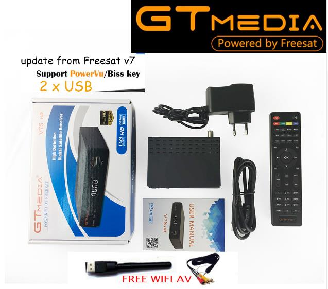 все цены на 5PCS GT MEDIA Freesat gtmedia v7s DVB-S2 Satellite Receiver Full 1080P Receptor PowerVu Biss WiFi 3G Youtube USB PVR онлайн