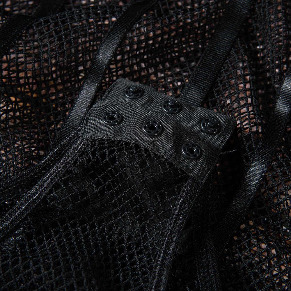Женский прозрачный боди Cryptographic, черный сетчатый комбидресс с вырезами, бюстгальтер с мягкими чашками, 2019