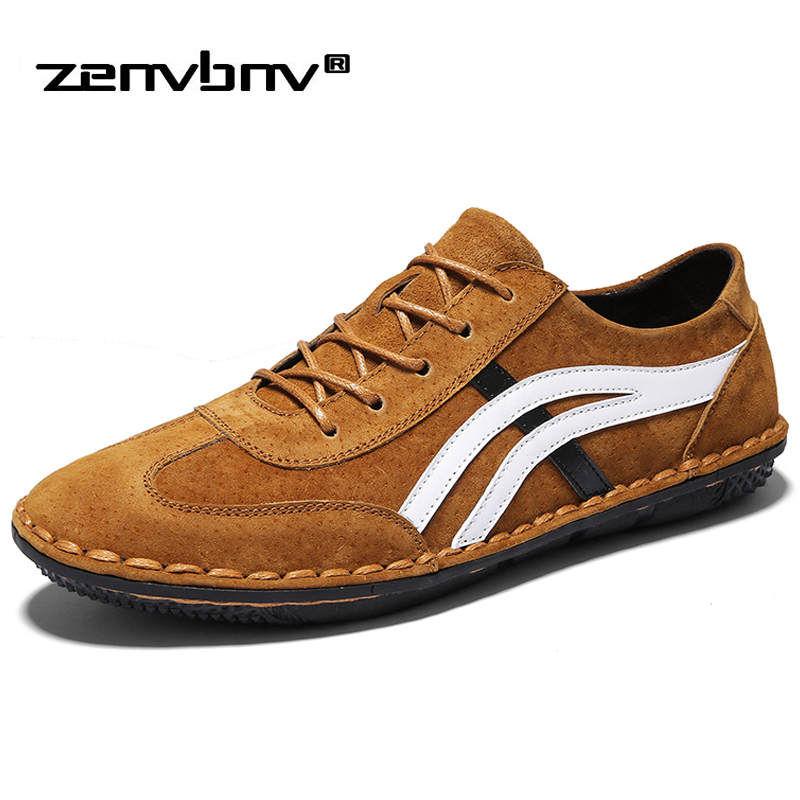 ZENVBNV New Men Leather Shoes Designer Casual Men Fashion Lace-up Sneakers Flats Krasovki Male Loafers comfortable casual shoes new brand men loafers genuine leather england designer business casual shoes classical male driving flats handmade moccasins