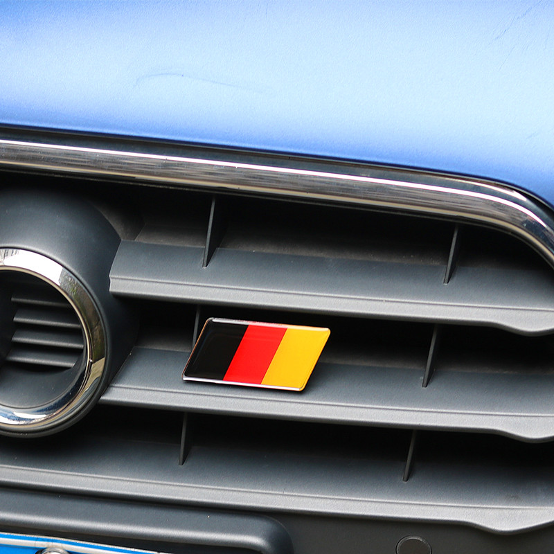 Car Styling Germany Flag Car Front Grill Emblem Sticker Grille Badge for Audi A1 A4 A5 A3 A6 A8 A7 Q3 Q5 Q7 80 C5 C6 C7 S LINE