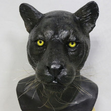 Hot Selling Lively Leopard Latex Panther Animal Mask For Halloween Costumes Party Cosplay Decoration