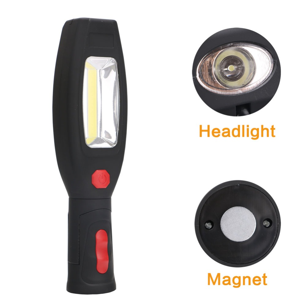 1*COB LED+1*1W LED Work light 2 Mode USB Rechargeable Flashlight Magnetic Portable Spotlight Torch Built-in Battery Lamp portable 5 mode cob flashlight torch usb rechargeable led work light magnetic cob lanterna hanging tent lamp built in battery